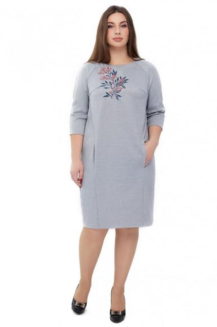 Сукня жіноча Горобина (Джерсі світло-сірий)