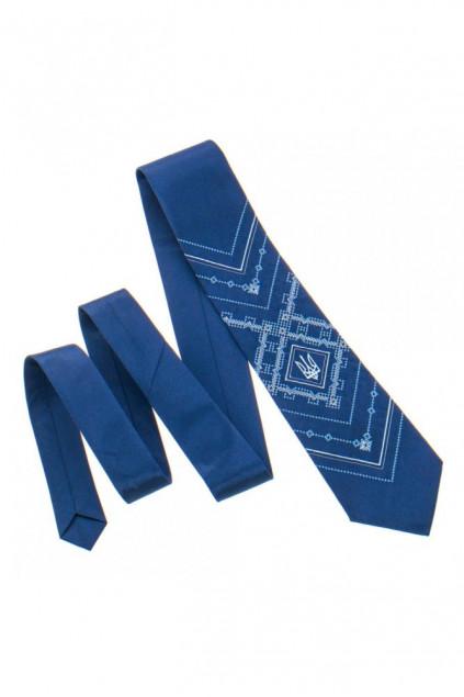 Вишита краватка з тризубом (819)