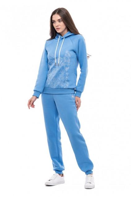 Жіночі штани (Футер з начісом блакитний)