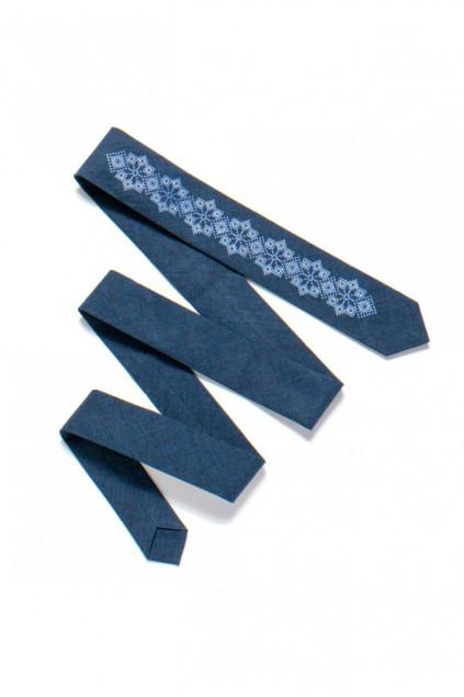 Вузька краватка з вишивкою (720)