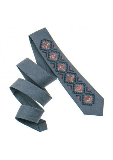Вишита краватка з льону (928)