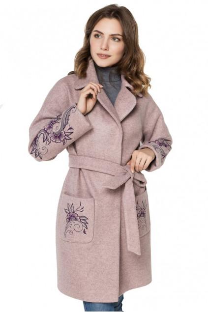Пальто жіноче Veronica (Пальтова тканина Валенсія пудра)