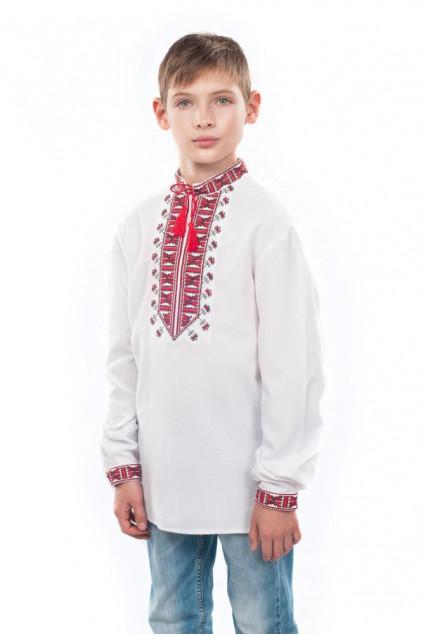 Сорочка для хлопчика Гетьман (домоткане полотно біле)
