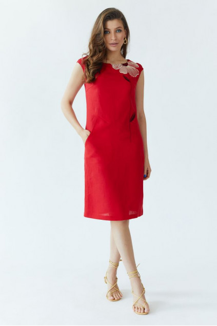 Сукня жіноча Східна квітка (Льон червоний)